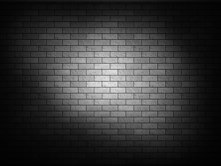 Dark brick wall black