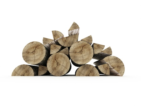 firewood: Firewood isolated on white background Stock Photo