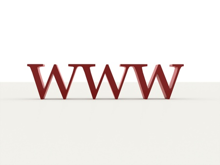 World wide web text red isolated photo