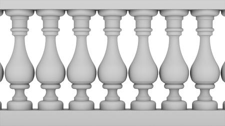 Balustrade op zwart en wit Stockfoto - 20068308