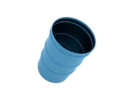 barell: Blue barrel isolated on white background
