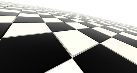 黒と白のチェス盤