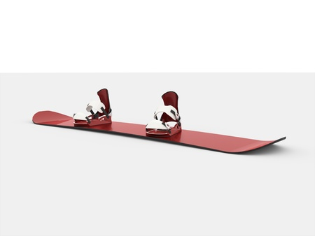 Modern snowboard red color on white background Reklamní fotografie