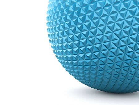 Blue abstract sphere with polygonal relief photo