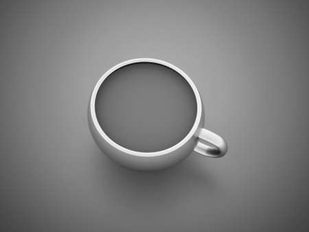 White cup of on dark background photo
