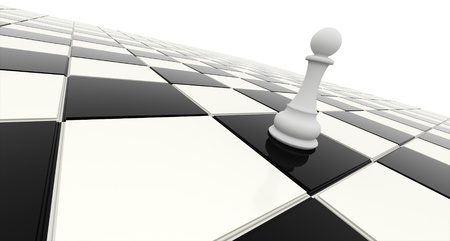 chess game: One victory on chessboard Stock Photo
