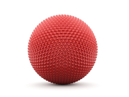 Red abstract sphere isolated on white background