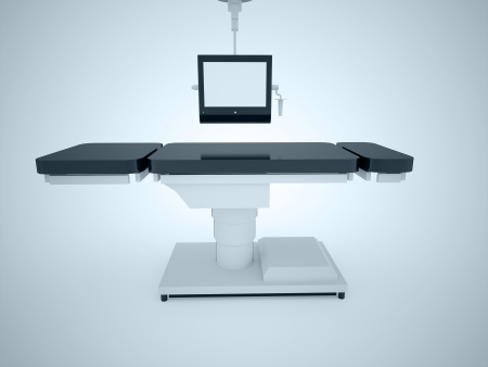 Operating table with monitor