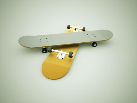 foot path: Skateboards rendered yellow