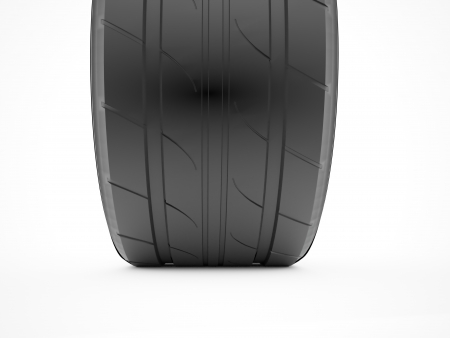 Tire rendered on white background photo