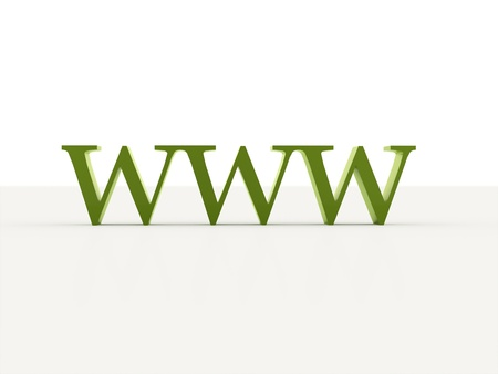 World wide web text green isolated photo