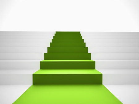 green carpet: Stairs with green carpet
