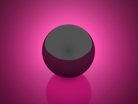 Black sphere on beautiful purple background photo