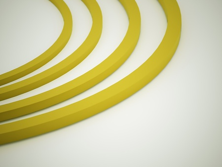 Yellow abstract circle rendered Stock Photo - 22147637