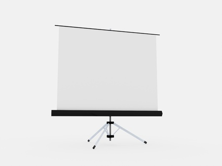 Projector board isolated on white background photo