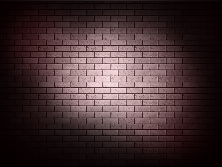 Red brick wall with shadow photo