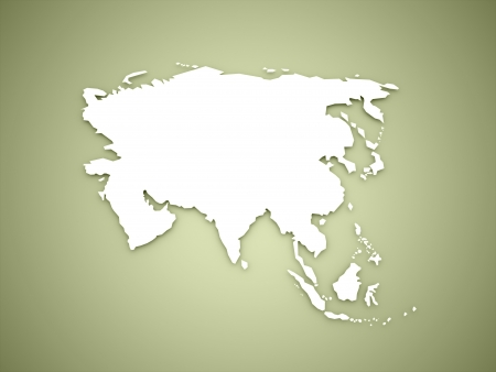 Asia map continent concept on green background Stock Photo - 22884687