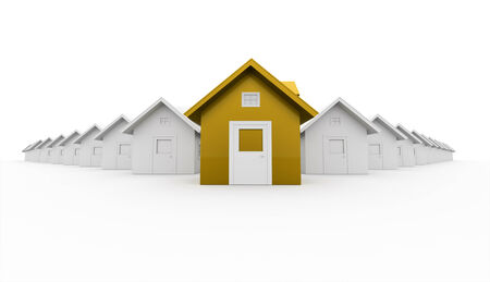 House icon concept front is yellow photo