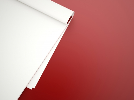 Blank notes rendered on red background photo
