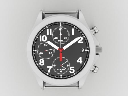 Sport hand watch rendered on dark background photo