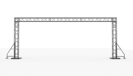 Stage bouw teruggegeven op een witte achtergrond Stockfoto