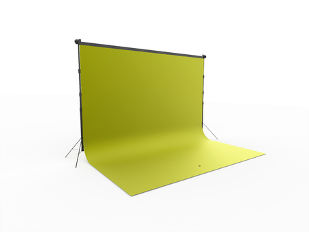 Green photo stage canvas isolated on white background
