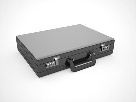 Black suitcase rendered photo