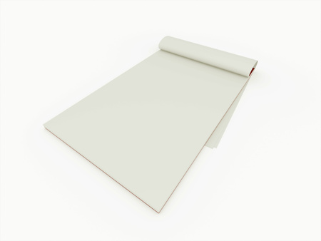 Notebook blank isolated on white background photo