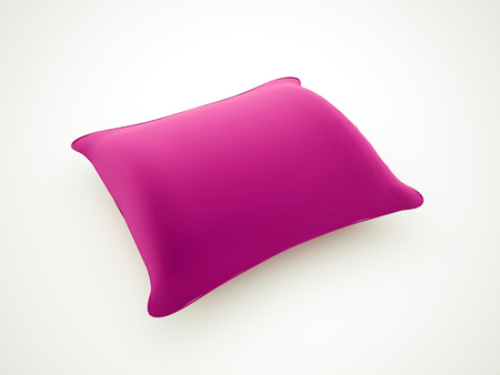 Pink pillow rendered on white background photo