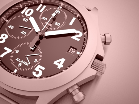 Sport watches rendered on red background