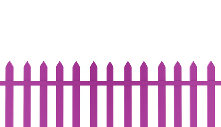 Pink fence old concept rendered on white background photo