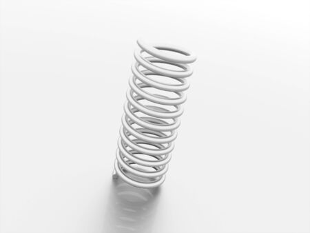 Spiral string with reflection rendered photo