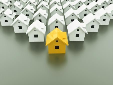 1 つの家のコンセプトは黄色
