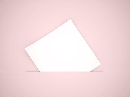One block of paper concept on red background photo