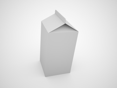 Milk carton rendered black and white photo