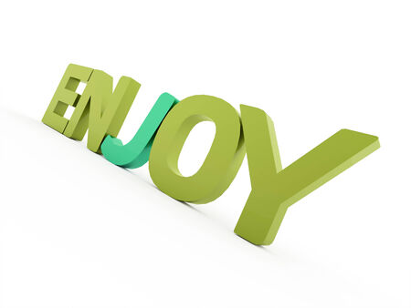 Enjoy word rendered isolated on white background photo