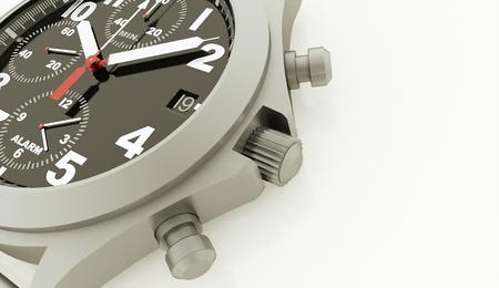 スポーツの腕時計白い背景上に描画