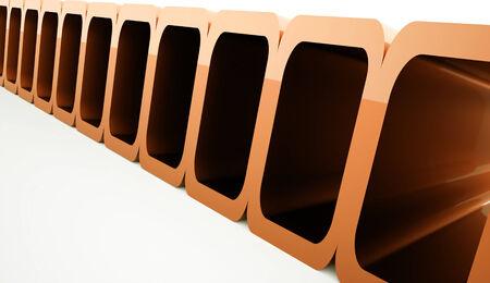 Orange futuristic background concept on white photo