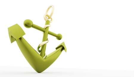 Green anchor rendered on white background