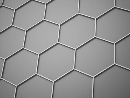 Silver hexagonal background concept rendered