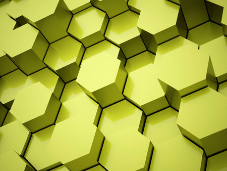 Green hexagonal business background concept rendered photo