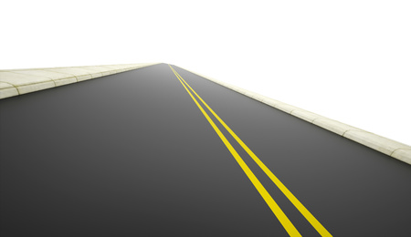 Road rendered on white background photo