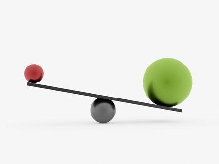 スイング球赤と緑は、白い背景で隔離