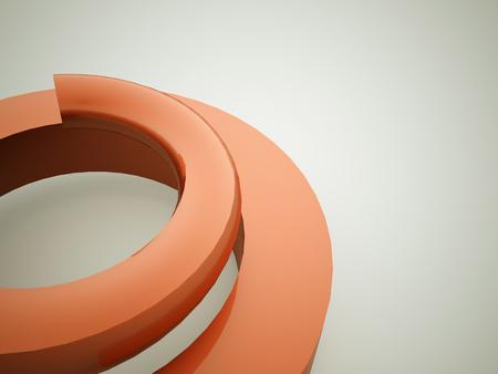 springy: Orange spiral spring concept rendered on white background