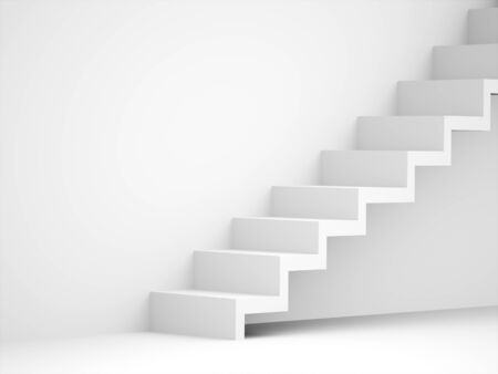 climbing stairs: Stairs business concept rendered black and white