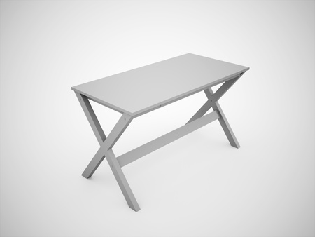 Blank work table construction rendered photo