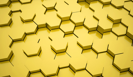 gold abstract: Gold abstract hexagonal background Stock Photo