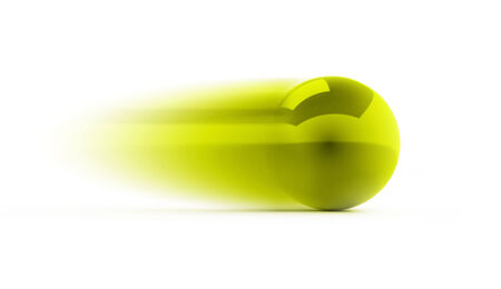 Green speed sphere rendered isolated on white background photo