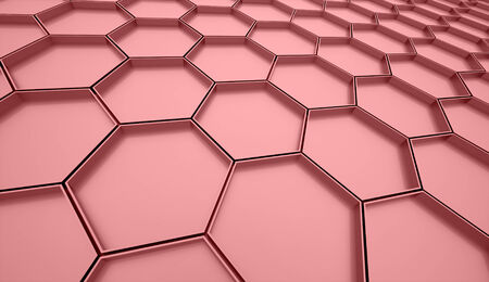 Red abstract hexagonal cell background rendered photo