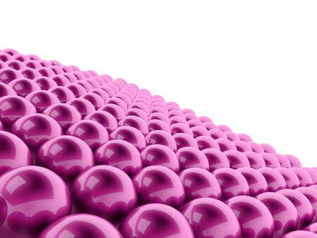 Pink spheres background rendered photo
